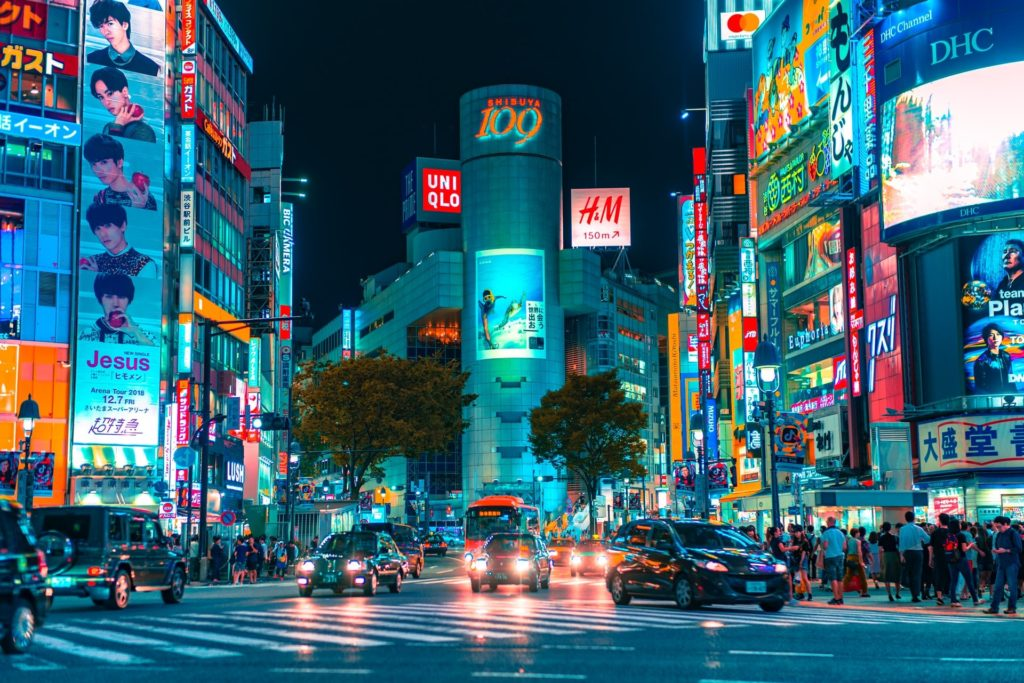 渋谷のスクランブル交差点